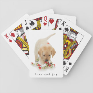 Holiday Puppy Playtime Love and Joy Playing Cards