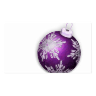 Holiday Purple Ornament Gift Tag Business Card