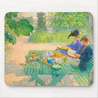 Holiday Reading by Carl Larsson Mouse Pad
