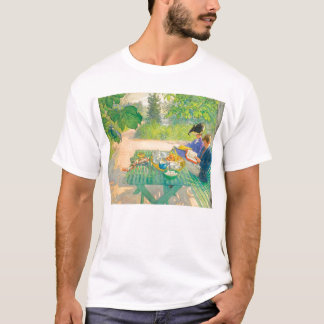 Holiday Reading by Carl Larsson T-Shirt