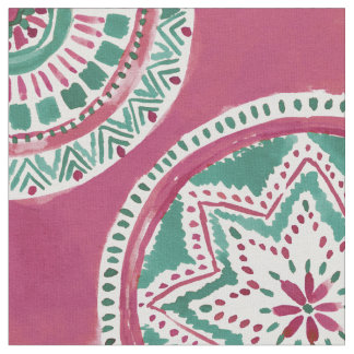 Holiday Red and Green MIGHTY MEDALLION Mandala Fabric