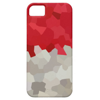 Holiday Red and White Santa Mosaic Abstract iPhone 5 Case