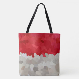 Holiday Red and White Santa Mosaic Abstract Tote Bag