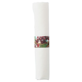 Holiday red berries napkin band