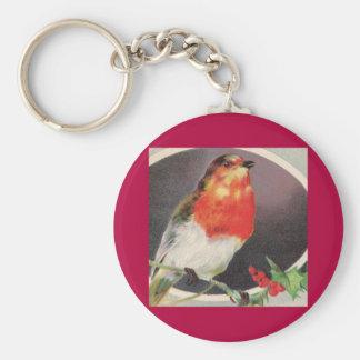 Holiday Red Bird keychain