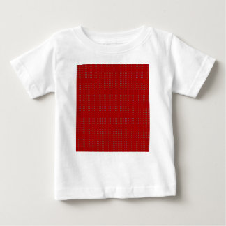 Holiday Red Simple Poka Dot Design Baby T-Shirt