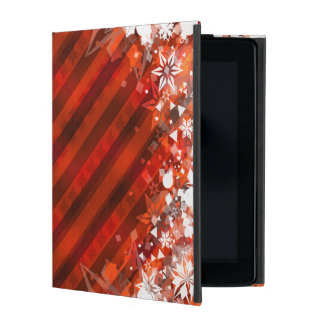 Holiday Red with White Snowflake - Custom Case Cover For iPad