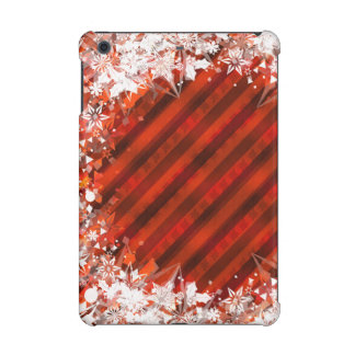 Holiday Red with White Snowflake - Custom Case iPad Mini Case