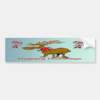 Holiday Reindeer Car Bumper Sticker