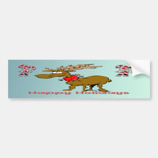 Holiday Reindeer Bumper Sticker