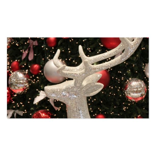Holiday Reindeer Christmas Tree Ornaments Design Business Cards