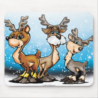 Holiday Reindeer Mouse Pad
