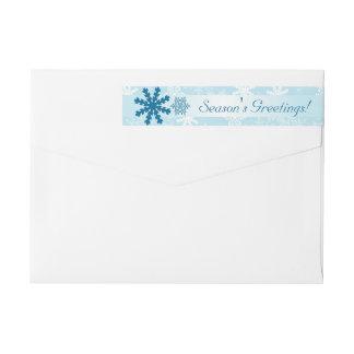 Holiday Return Address Label    Season's Greetings Wraparound Return Address Label