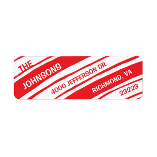 Holiday Return Address Labels: Candy Cane Return Address Label