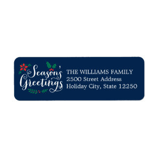 Holiday Return Address Labels | Season's Greetings