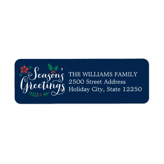 Holiday Return Address Labels | Season's Greetings