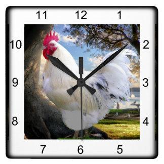 Holiday Rooster Wallclock