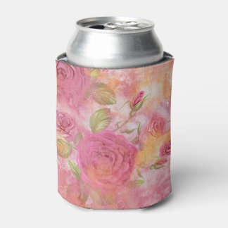 Holiday roses Can Cooler