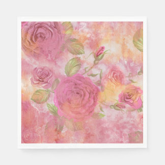 Holiday roses Luncheon Paper Napkins