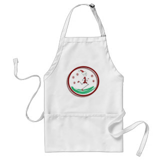 Holiday Runner Guy Adult Apron