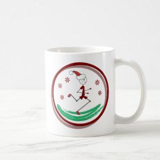 Holiday Runner Guy Coffee Mugs
