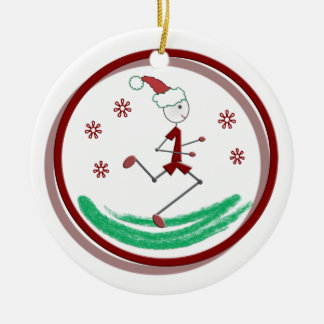 Holiday Runner Guy Ornament
