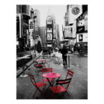 HOLIDAY SALE! Times Square Black White Red 18x24 Posters