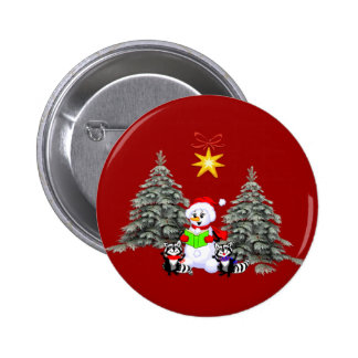Holiday Scene Pinback Buttons