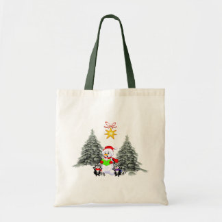 Holiday Scene Canvas Bag