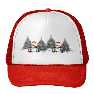 Holiday Scene Mesh Hat