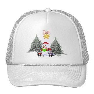 Holiday Scene Mesh Hats