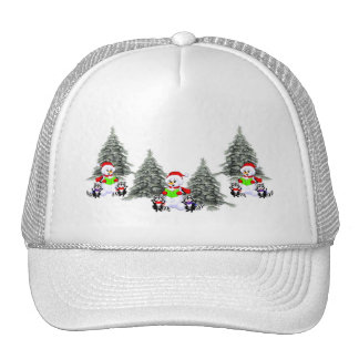 Holiday Scene Trucker Hats