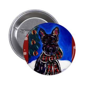 Holiday Scottish Terrier Pins