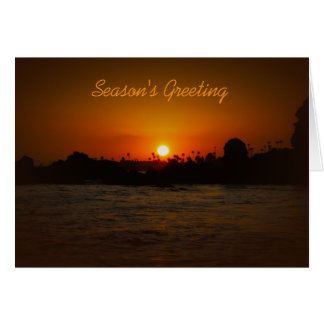 Holiday Season Greeting Cards-Soothing Sunset Card