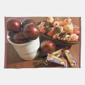 Holiday season table decor kitchen towel
