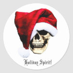 Holiday Skull Classic Round Sticker