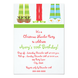Holiday Slumber Party Invitation