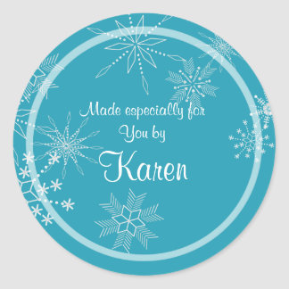 Holiday Snowflake Gift Sticker