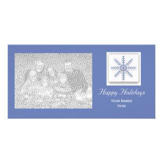 Holiday Snowflake Photo Cards