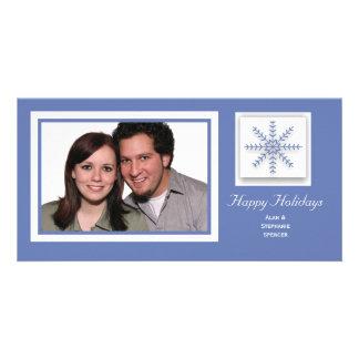 Holiday Snowflake Custom Photo Card
