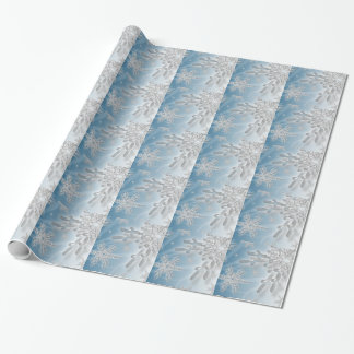 Holiday Snowflakes Christmas Xmas Background Wrapping Paper