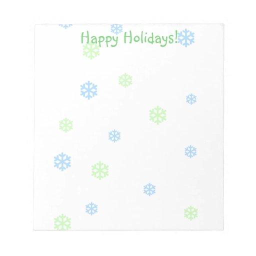 Holiday Snowflakes Memo Pad
