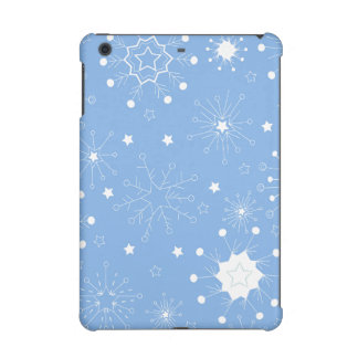 Holiday Snowflakes on Blue