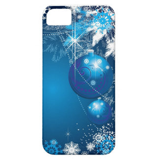 Holiday Snowflakes Ornament Blue Tree iPhone 5 Covers