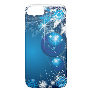Holiday Snowflakes Ornament Blue Tree iPhone 8/7 Case