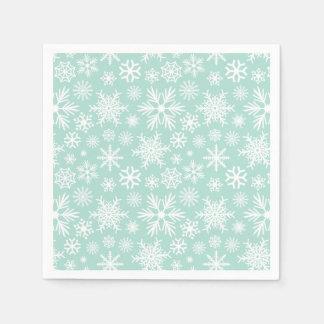 Holiday Snowflakes Paper Napkin