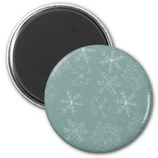 Holiday Snowflakes Pattern Magnet