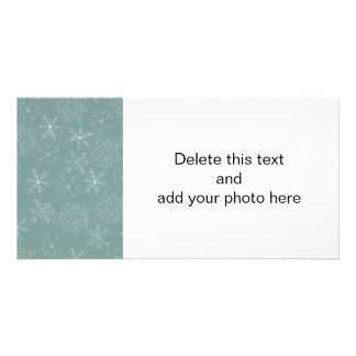 Holiday Snowflakes Pattern Personalized Photo Card