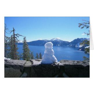 Holiday Snowman, Crater Lake National Park Card