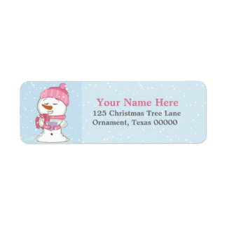 Holiday Snowman Custom Return Address Labels
